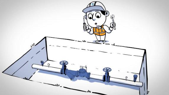 Set a pressure reducing valve